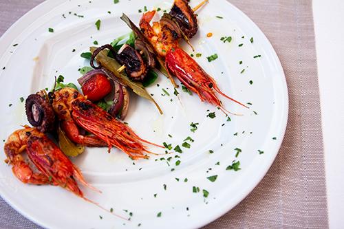 Spiedino di pesce - ristorante san vito lo capo - Hotel Trinacria